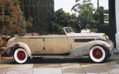 1934 Cadillac Custom Fleetwood Body Convertible Divide Window
